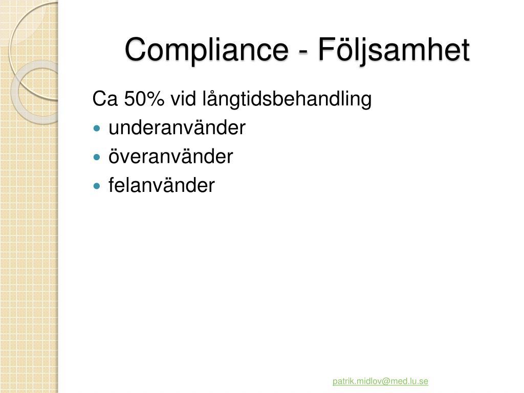 Compliance -