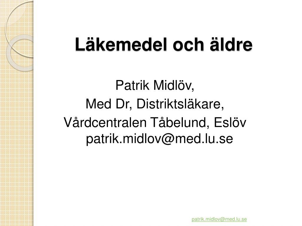 Läkemedel och äldre