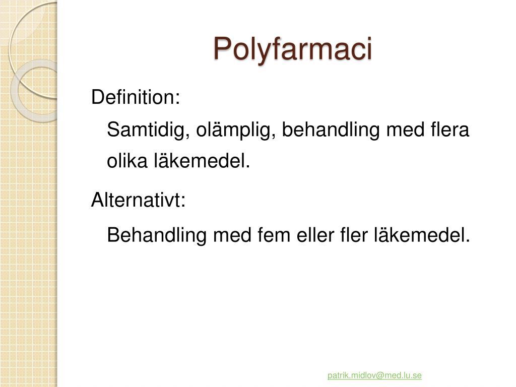 Polyfarmaci
