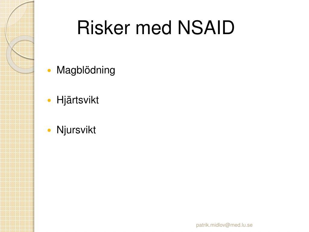 Risker med NSAID