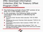 ipac download information collection ipac for treasury offset program top