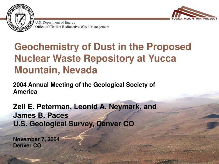 a question of right or wrong for the nuclear waste disposal at yucca mountain Trump administration is right: yucca mountain nuclear waste repository should be opened.