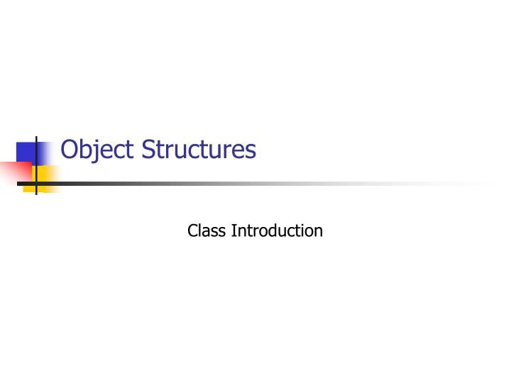 object structures n.