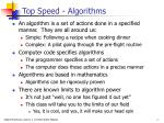 top speed algorithms