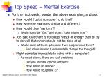 top speed mental exercise
