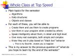 whole class at top speed