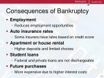 consequences of bankruptcy