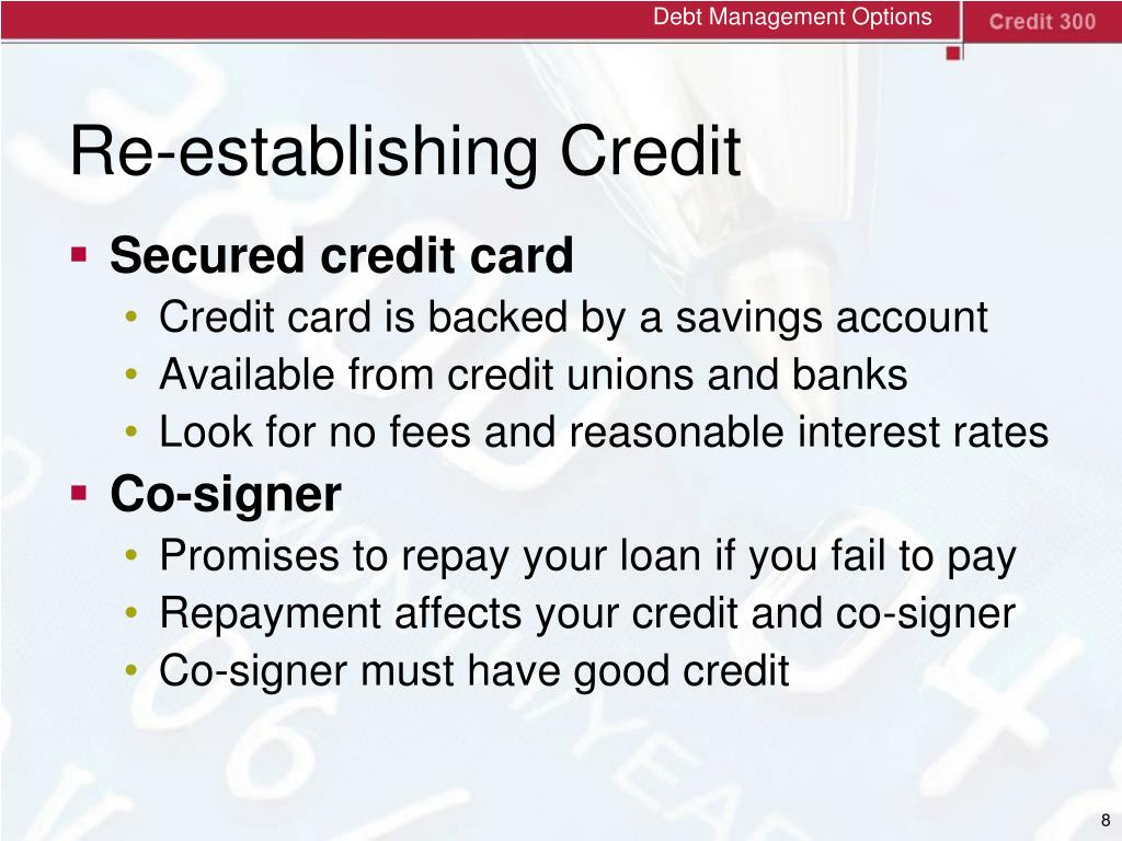 Debt Management Options