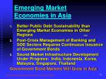 emerging market economies in asia