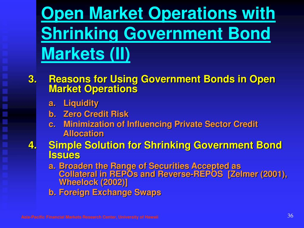 Open Market Operations with Shrinking Government Bond Markets (II)