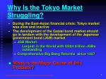 why is the tokyo market struggling