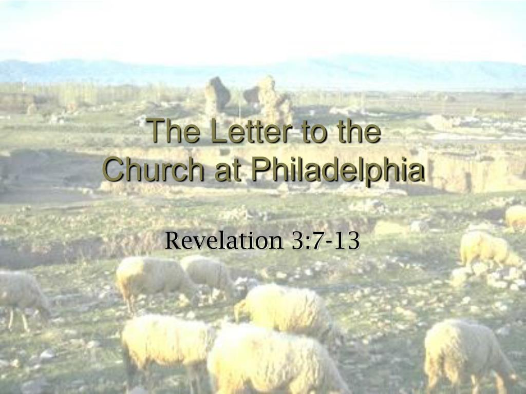 the letter to the church at philadelphia l.