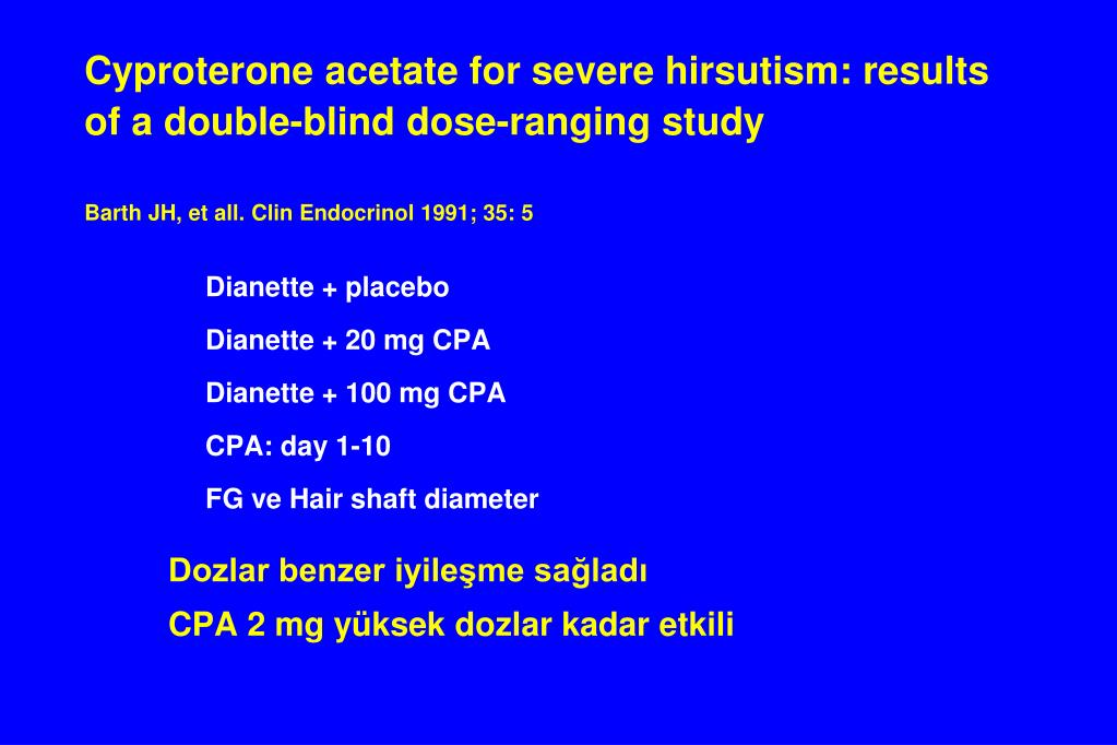 Cyproterone acetate for severe hirsutism: results of a double-blind dose-ranging study