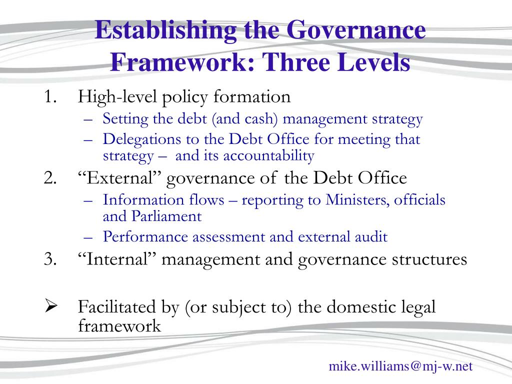 Establishing the Governance Framework: Three Levels