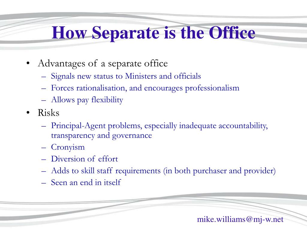 How Separate is the Office