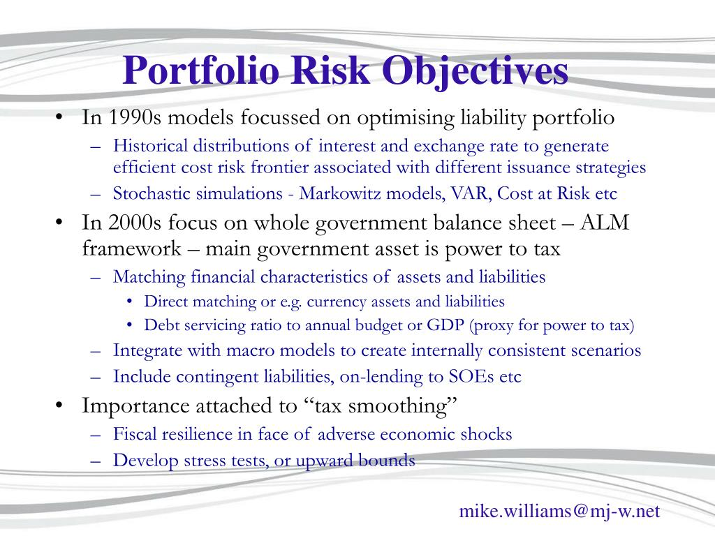 Portfolio Risk Objectives