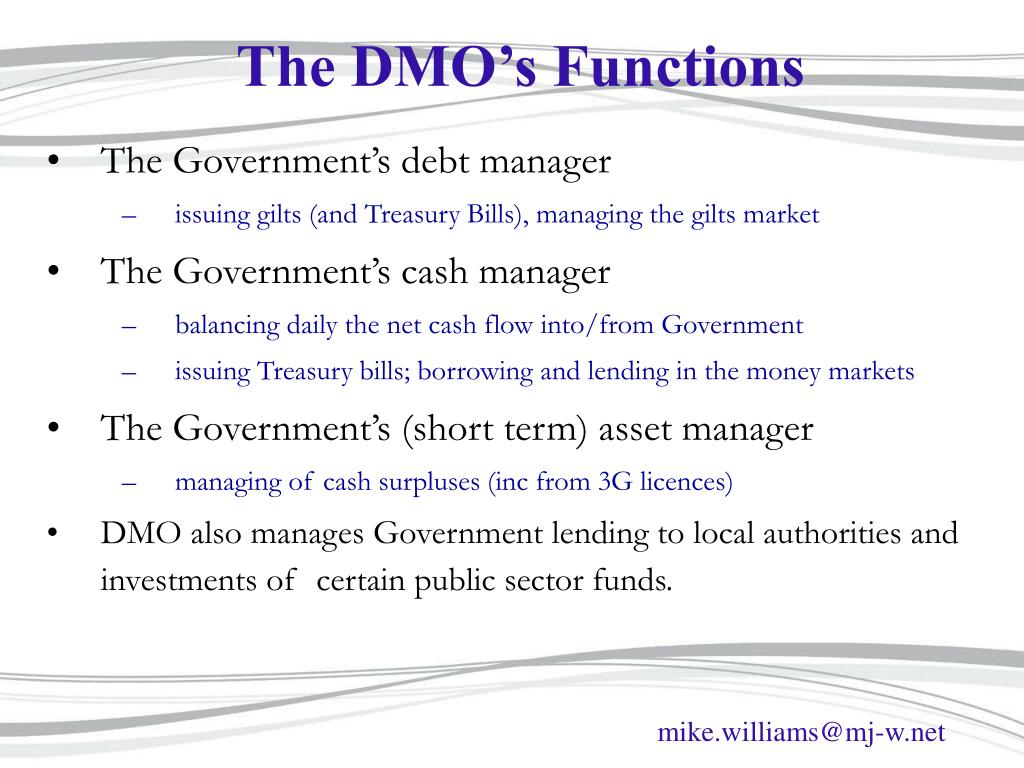 The DMO's Functions