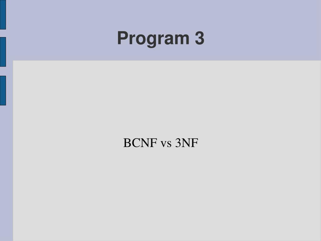 bcnf vs 3nf l.