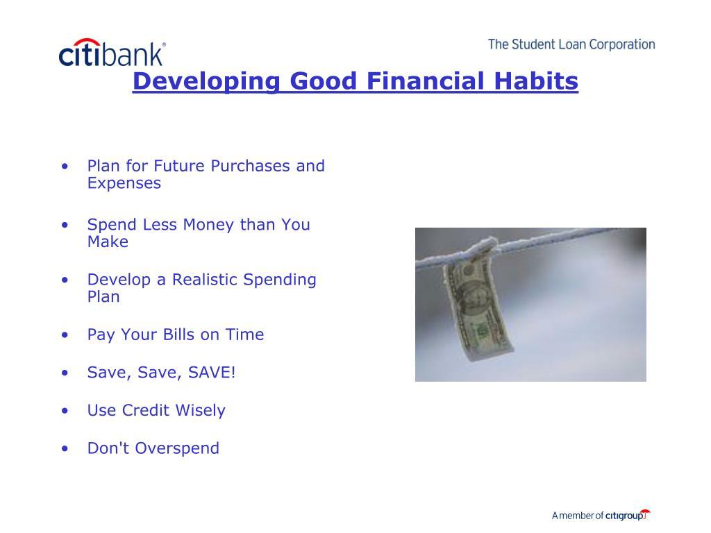 Developing Good Financial Habits