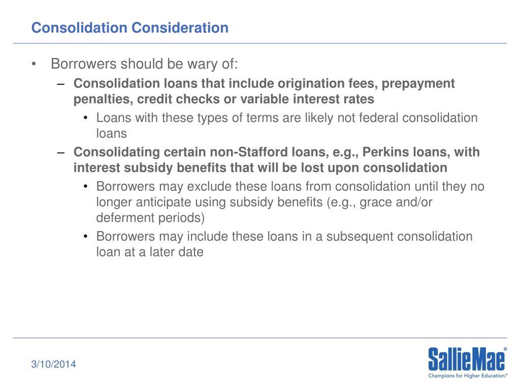 Consolidation Consideration