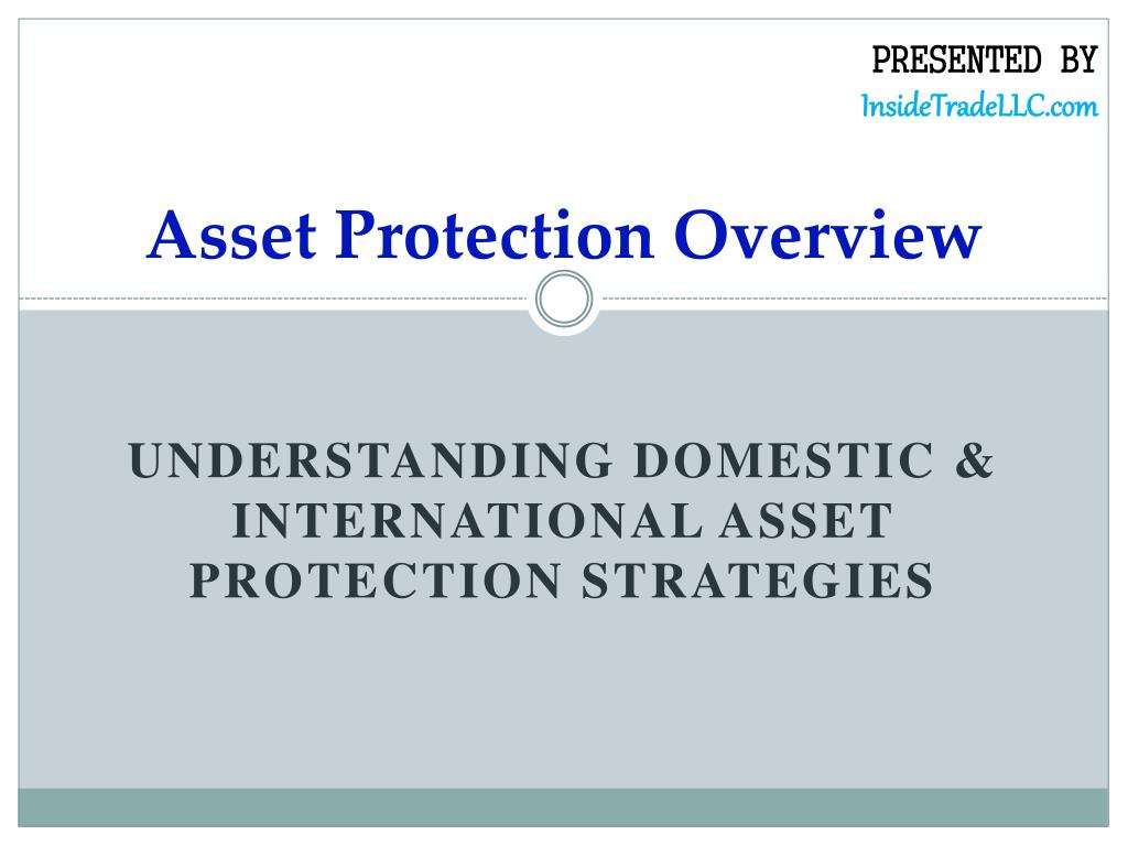 asset protection overview l.