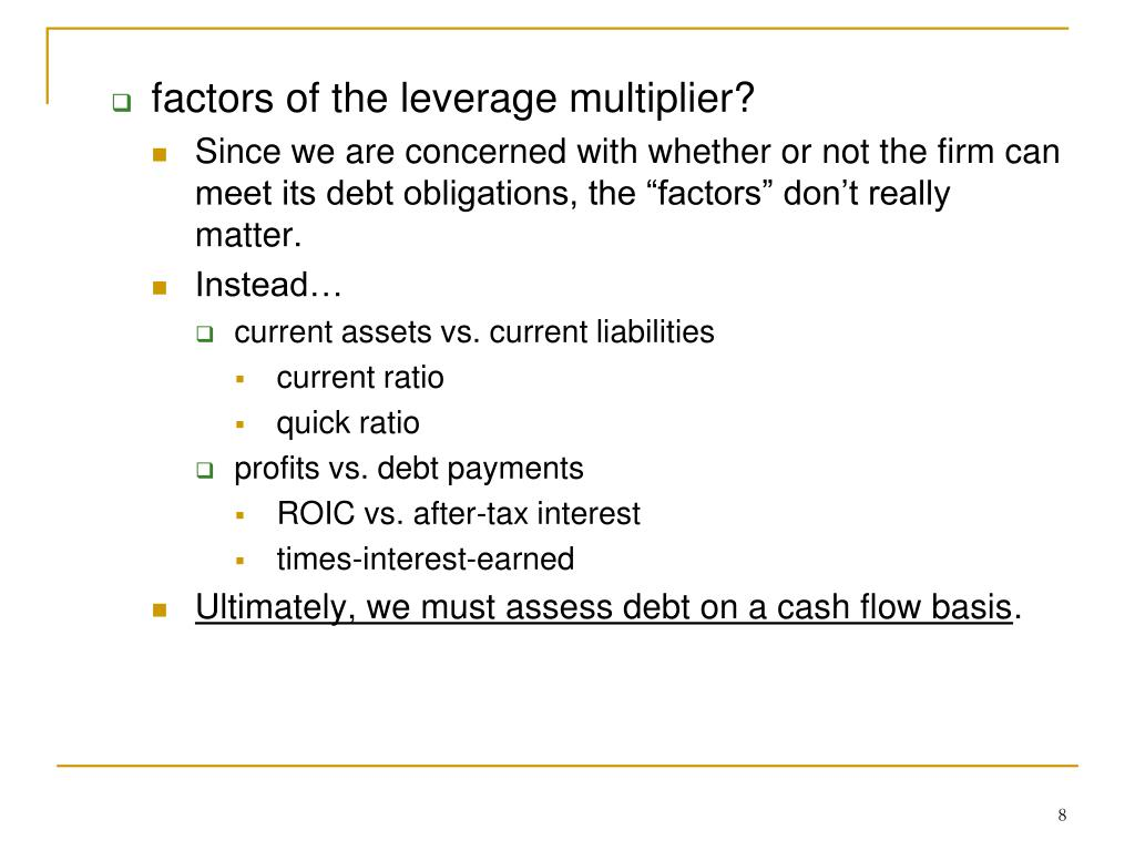 factors of the leverage multiplier?