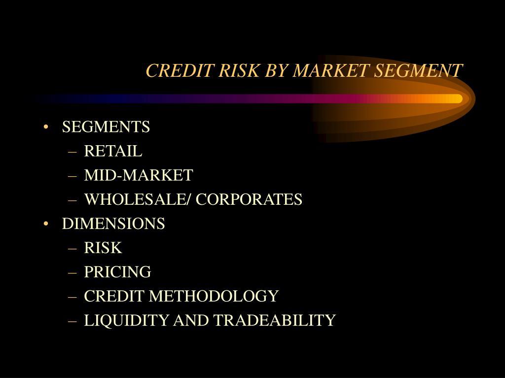 CREDIT RISK BY MARKET SEGMENT