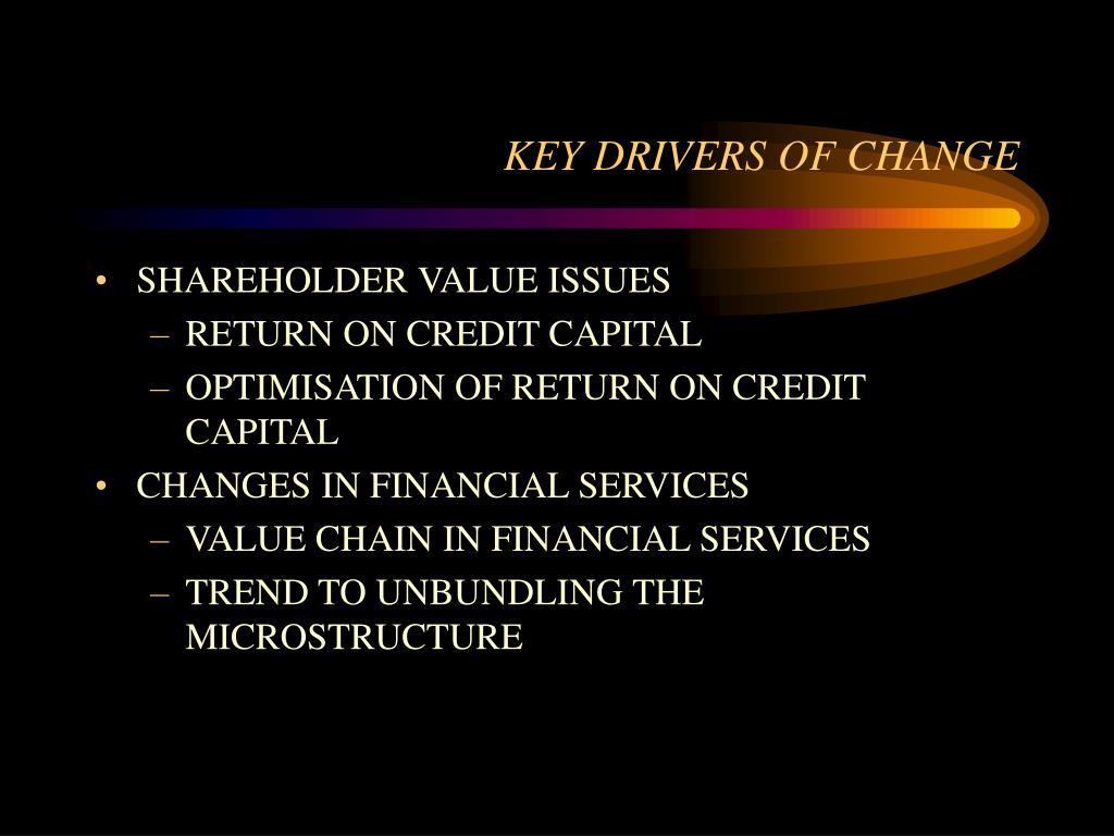 KEY DRIVERS OF CHANGE