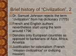 brief history of civilization 2