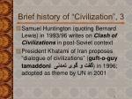 brief history of civilization 3
