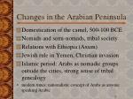 changes in the arabian peninsula