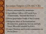 sasanian empire 226 642 ce