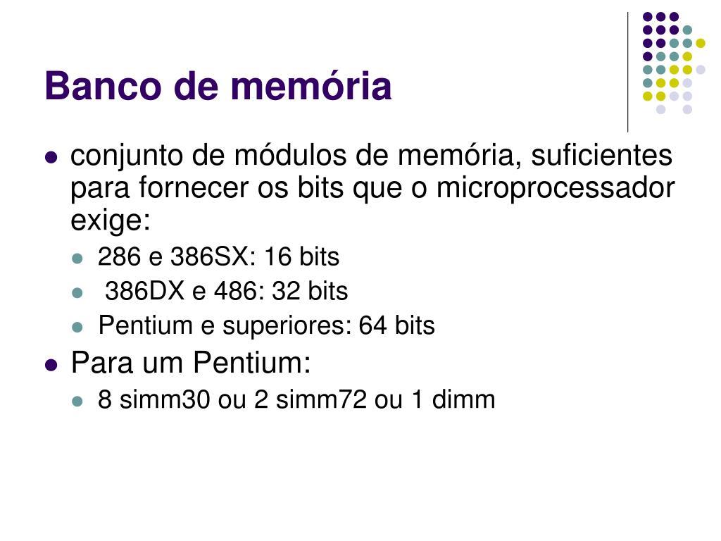 Banco de memória