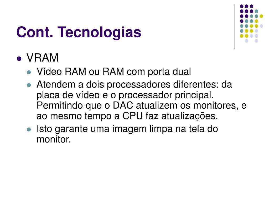 Cont. Tecnologias