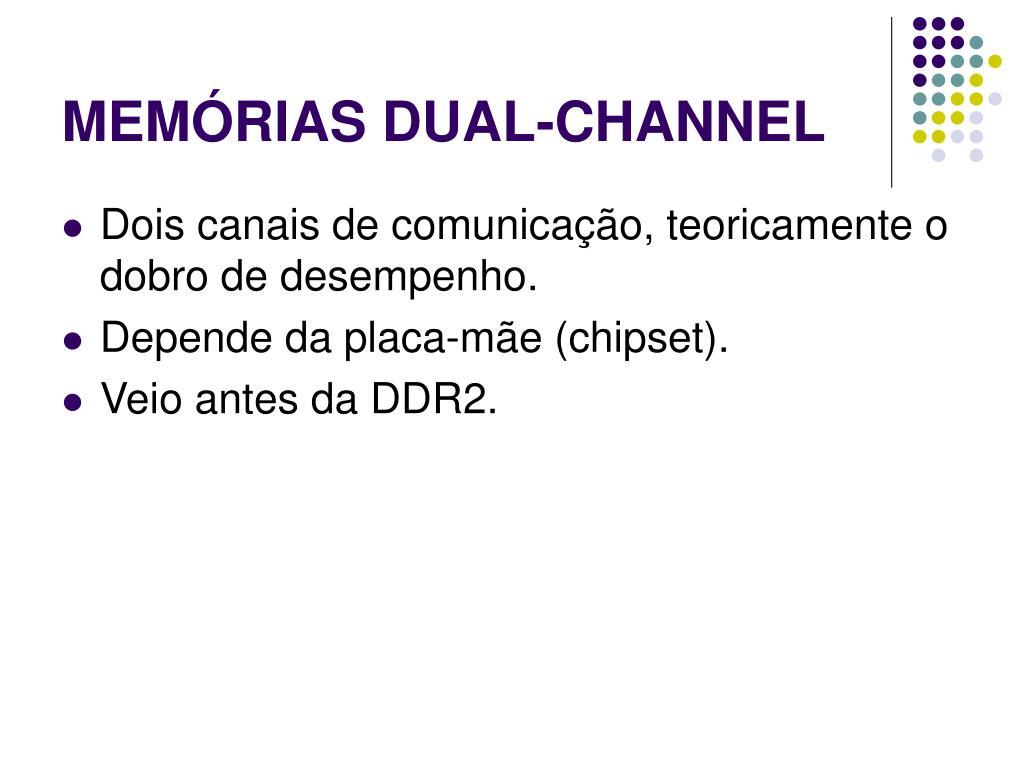 MEMÓRIAS DUAL-CHANNEL
