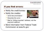 if you find errors