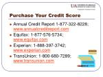 purchase your credit score