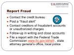 report fraud