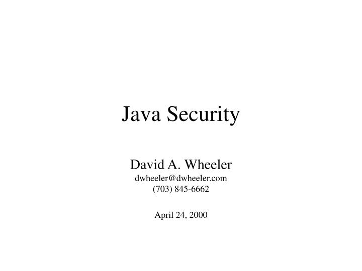 java security n.