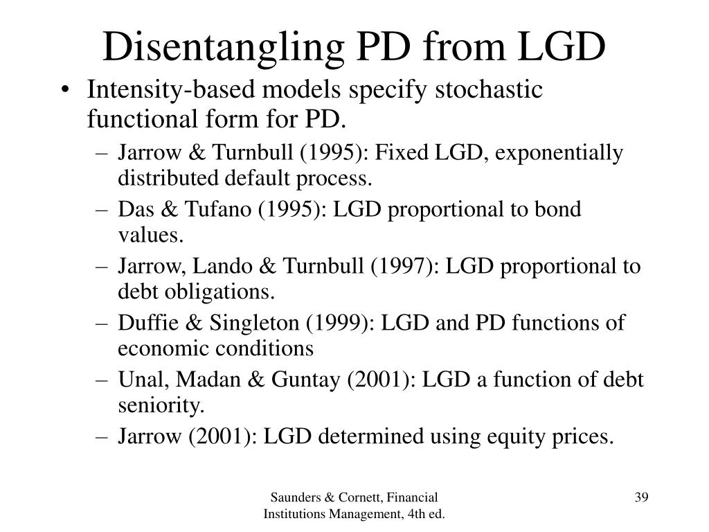 Disentangling PD from LGD