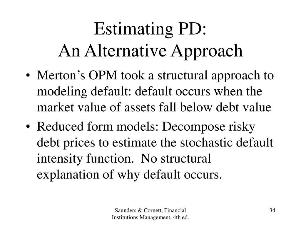 Estimating PD: