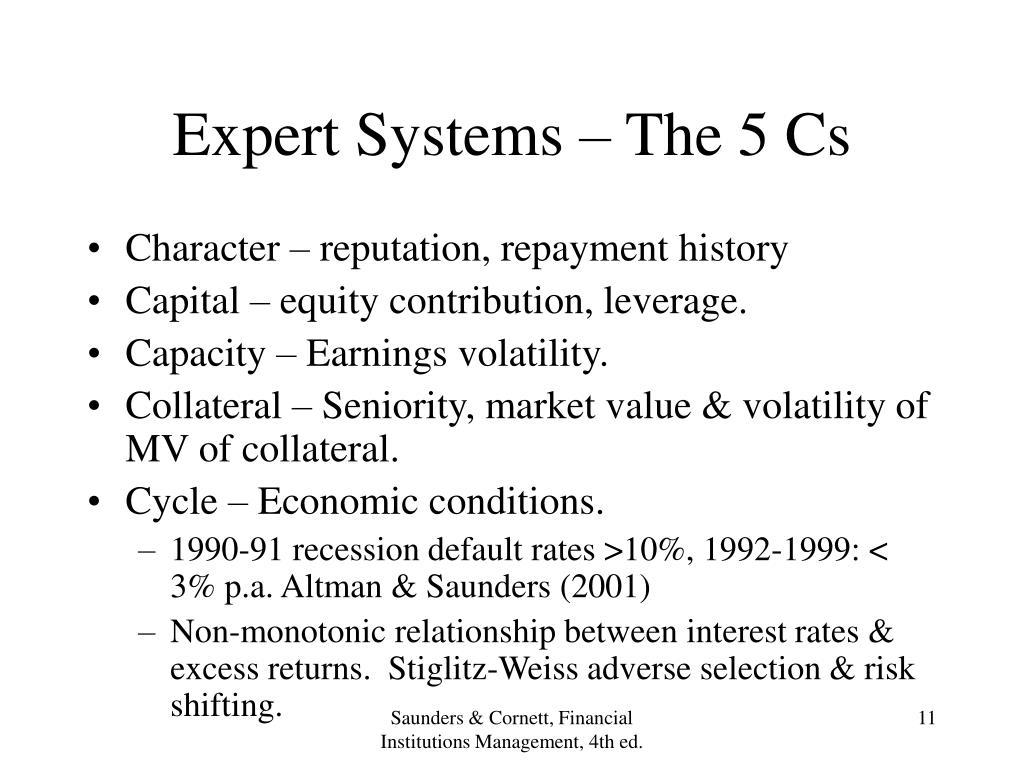 Expert Systems – The 5 Cs