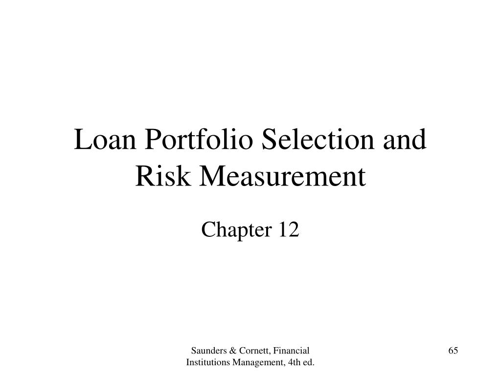 Loan Portfolio Selection and Risk Measurement