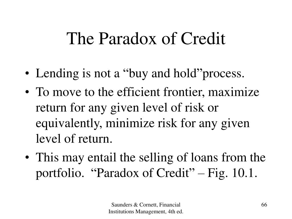 The Paradox of Credit