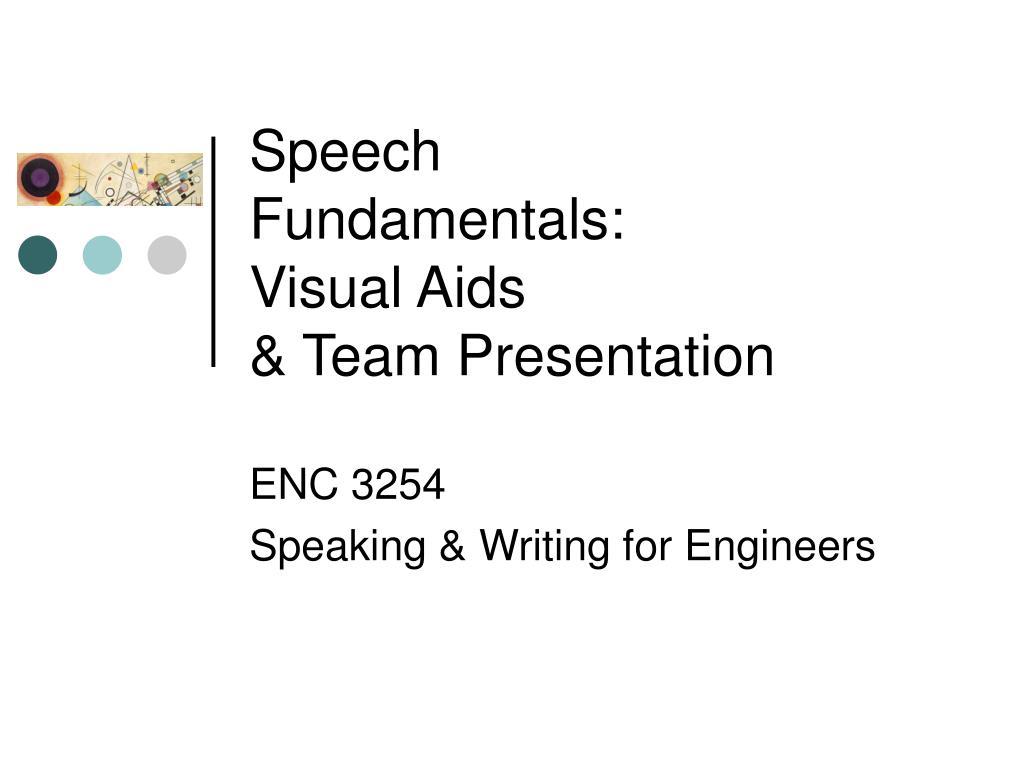 speech fundamentals visual aids team presentation l.