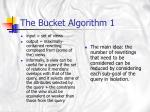 the bucket algorithm 1