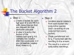 the bucket algorithm 2