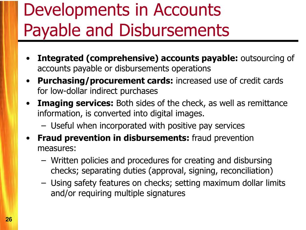 Developments in Accounts Payable and Disbursements