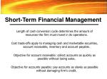 short term financial management27