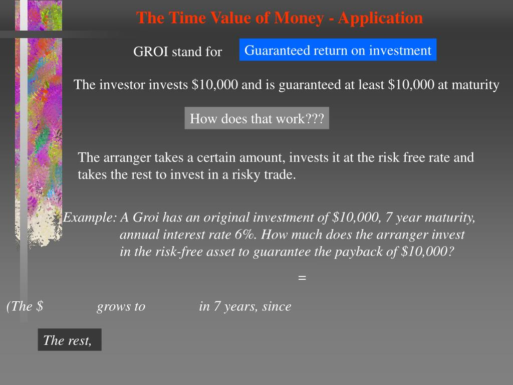 The Time Value of Money - Application